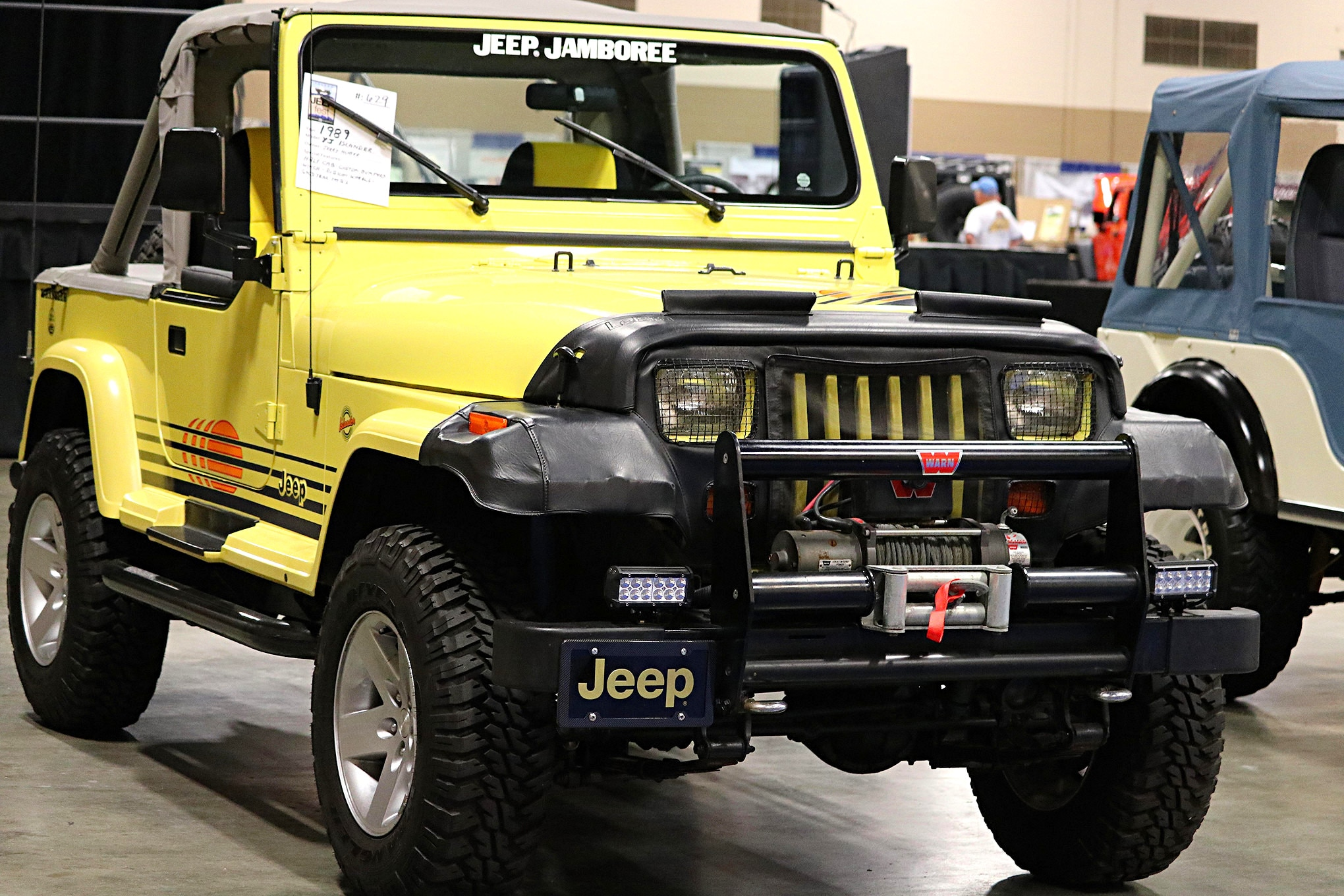 hight resolution of former toledo plant manager jerry huber brought this 89 jeep yj islander to the show seen here with a half cab huber has added custom bumpers