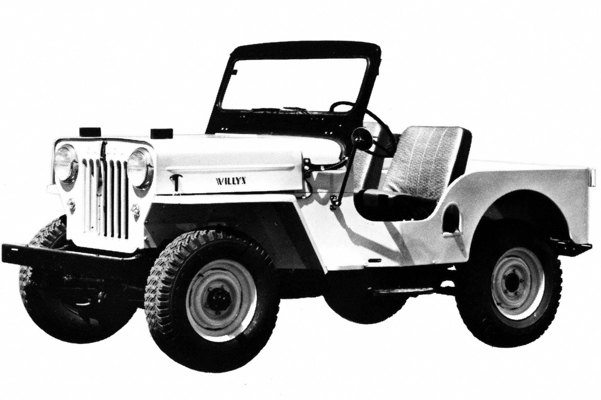 medium resolution of 001 your jeep jeep willys cj3b 3b vintage flatfender high hood