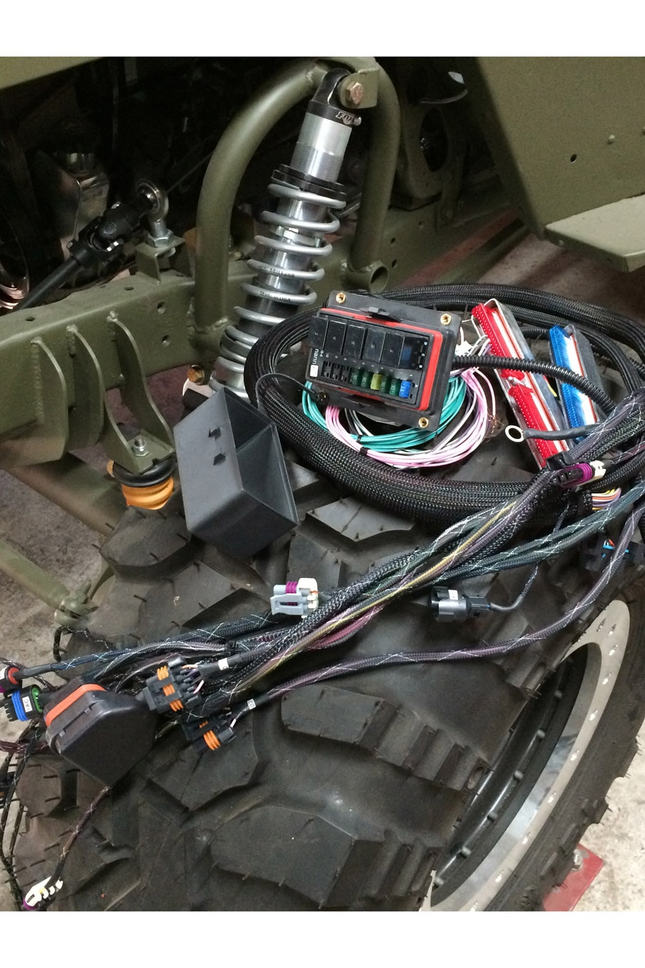 hight resolution of your jeep ford willys gpw garage project cappa wiring team 208 motorsports 4 3l v6 swap harness engine