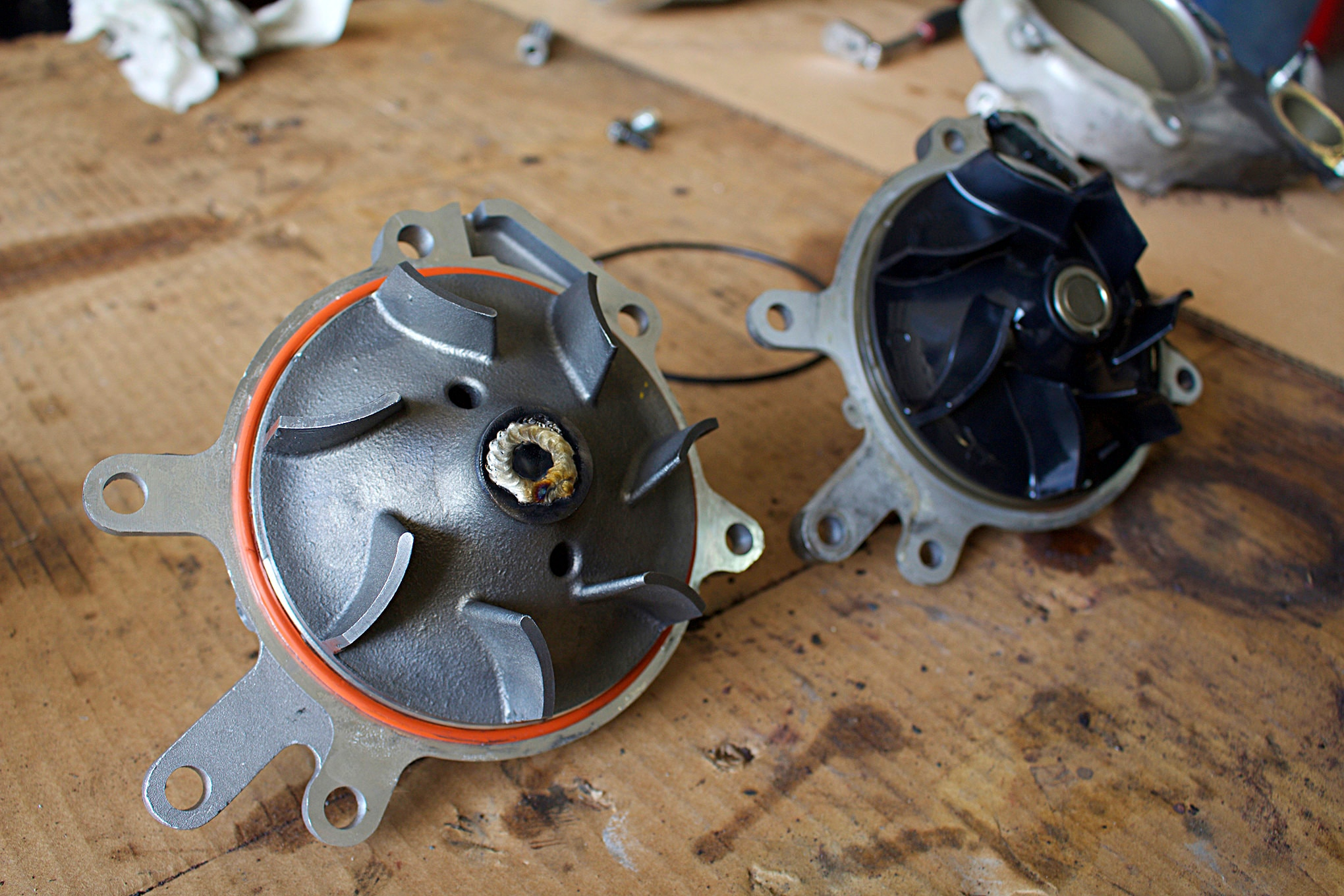 medium resolution of  10 half dayin it duramax water pump comparison