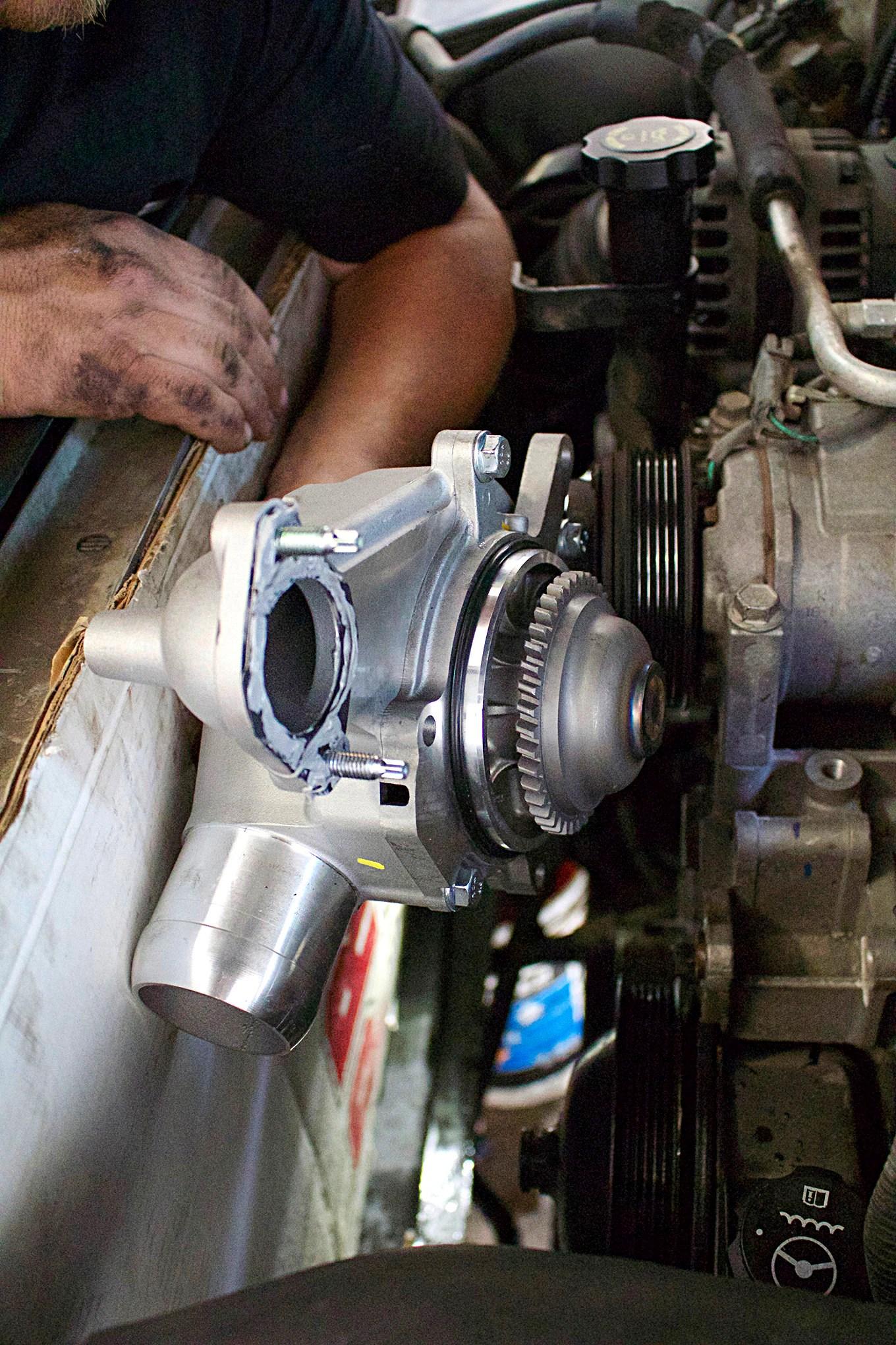 12 half dayin it merchant automotive duramax water pump installation photo 13 [ 1360 x 2040 Pixel ]