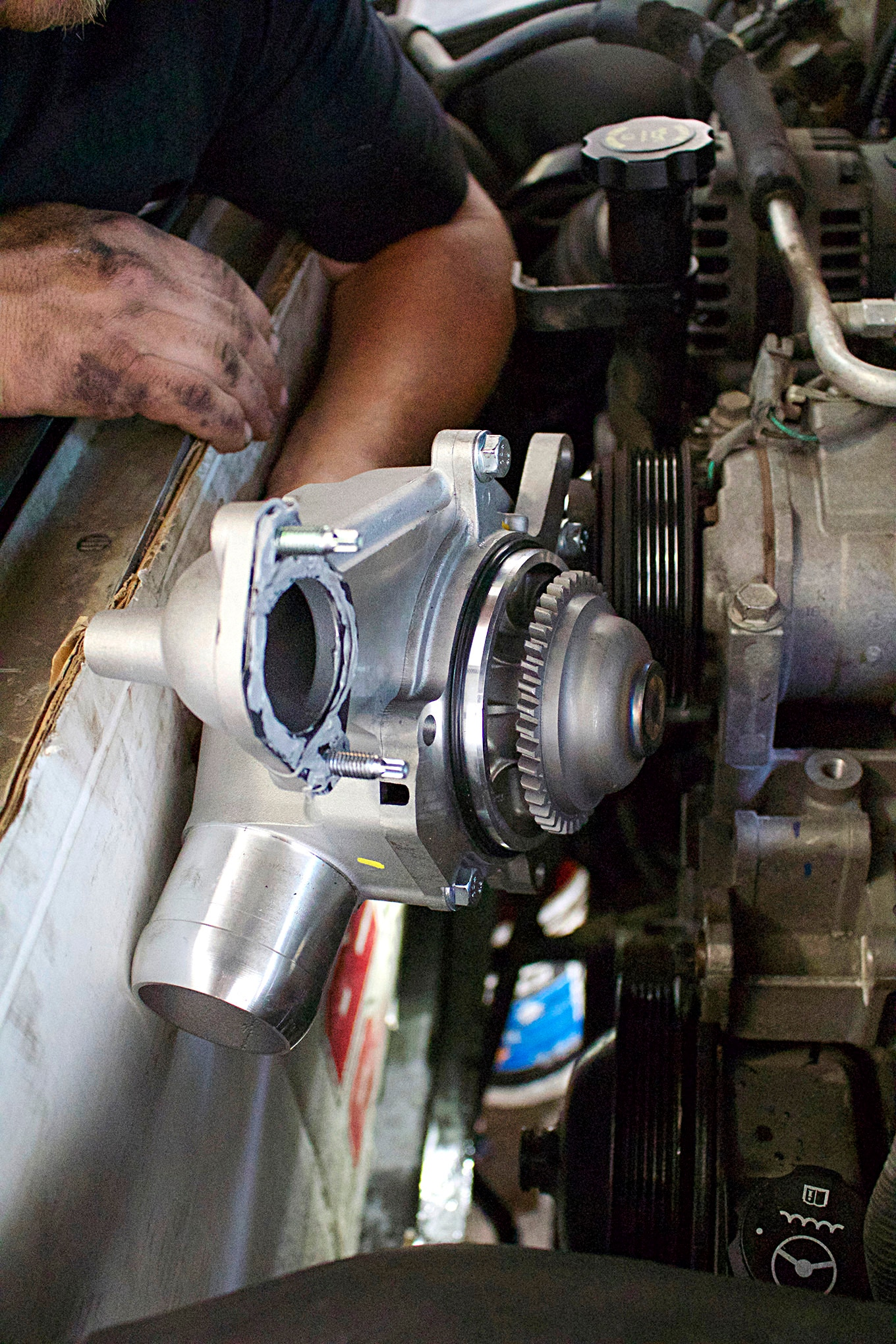 hight resolution of 12 half dayin it merchant automotive duramax water pump installation photo 13
