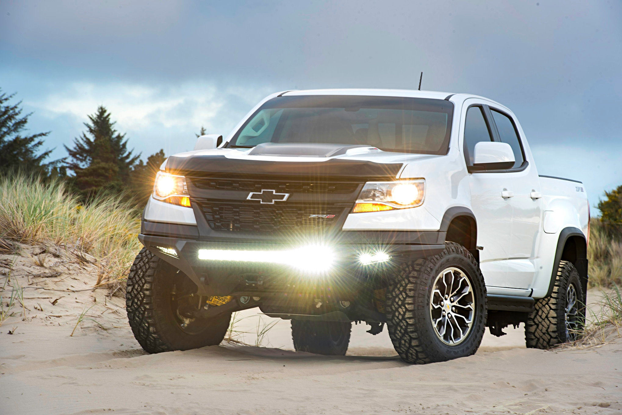 hight resolution of protect serve a winch lights and beefy bumper for a backcountry bound chevy colorado zr2