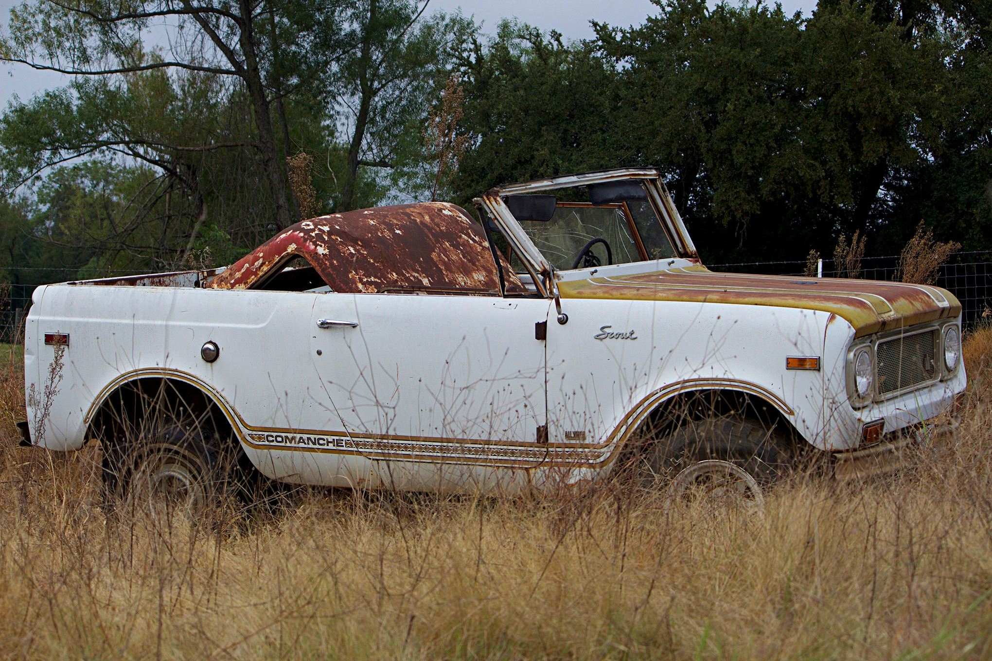 hight resolution of  the best side of the 71 international scout comanche only hints at the abuse and