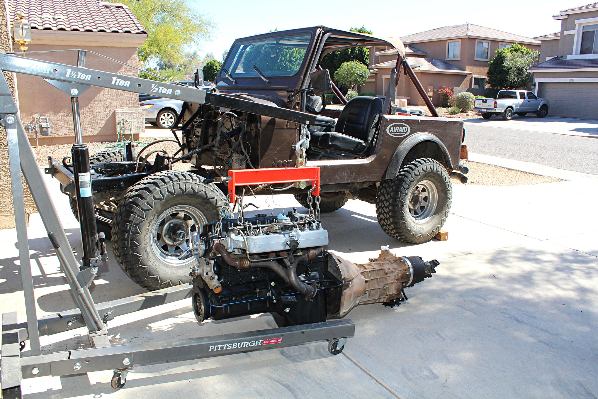 medium resolution of swapping a 4 0l into a cj 7 87 jeep 4 0l engine belt diagram