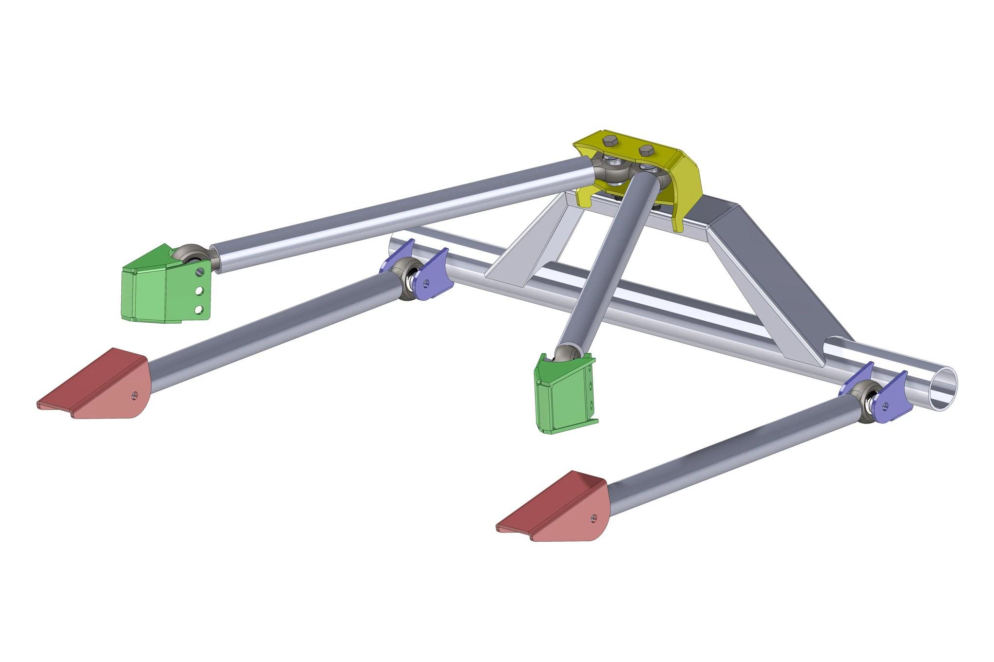 your jeep ruff stuff ruffstuff four three link suspension diy kit weld together truss brackets mount  [ 2040 x 1360 Pixel ]