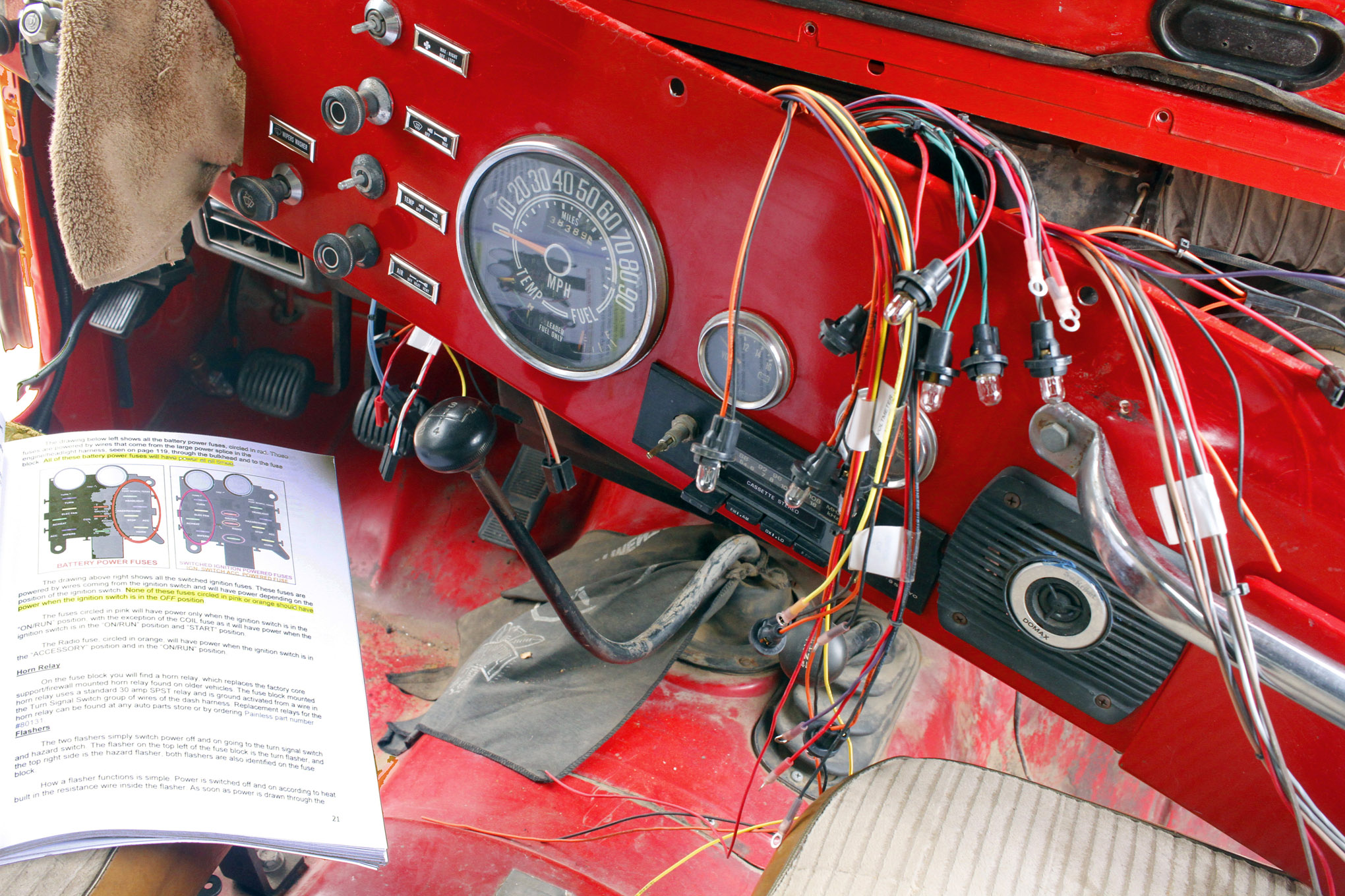 small resolution of details about jeep cj under dash wiring harness fuse block cj7 cj5 7 5 wiring diagram for you