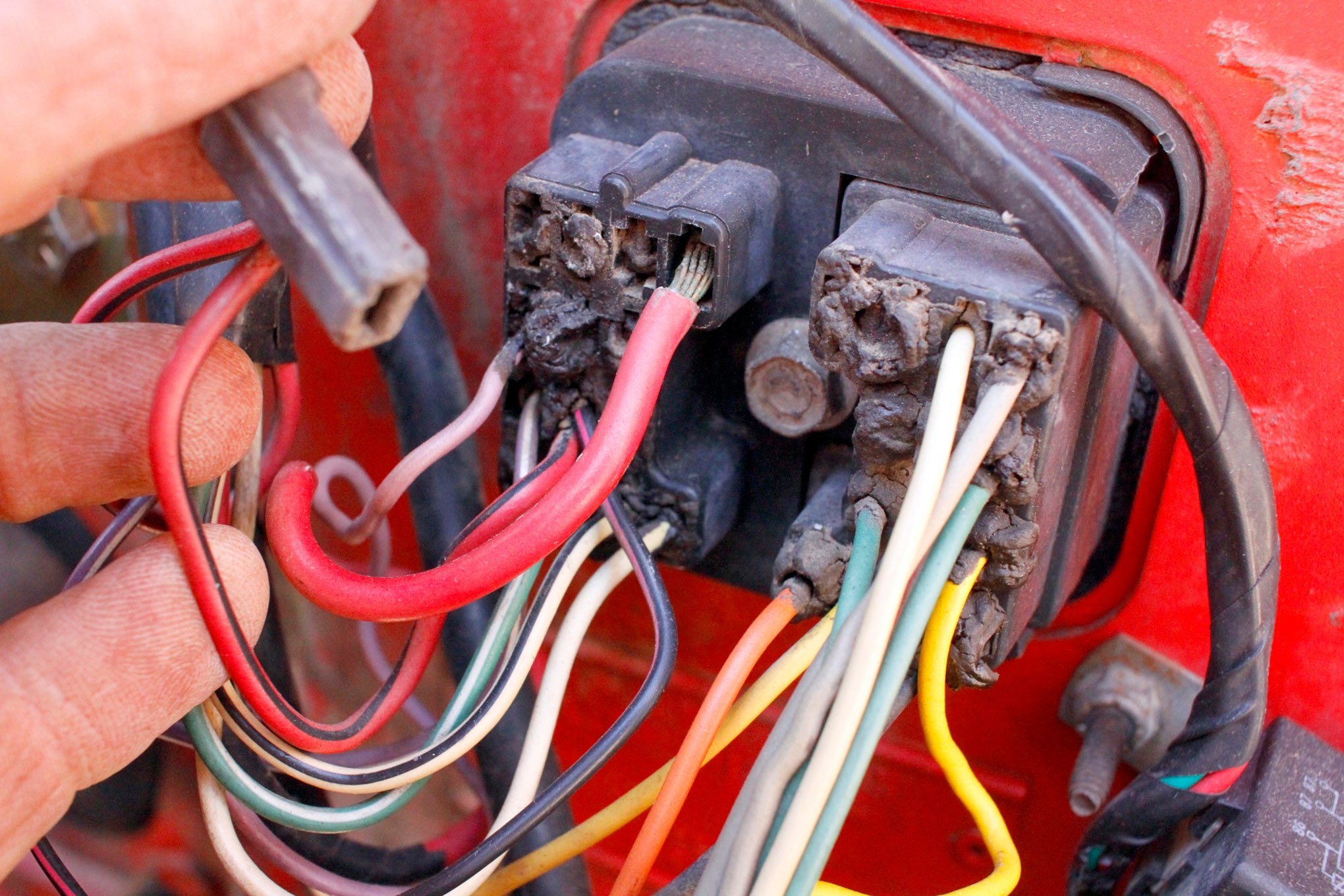 our wiring had been slowly degrading with age especially those wires subject to underhood heat  [ 2040 x 1360 Pixel ]