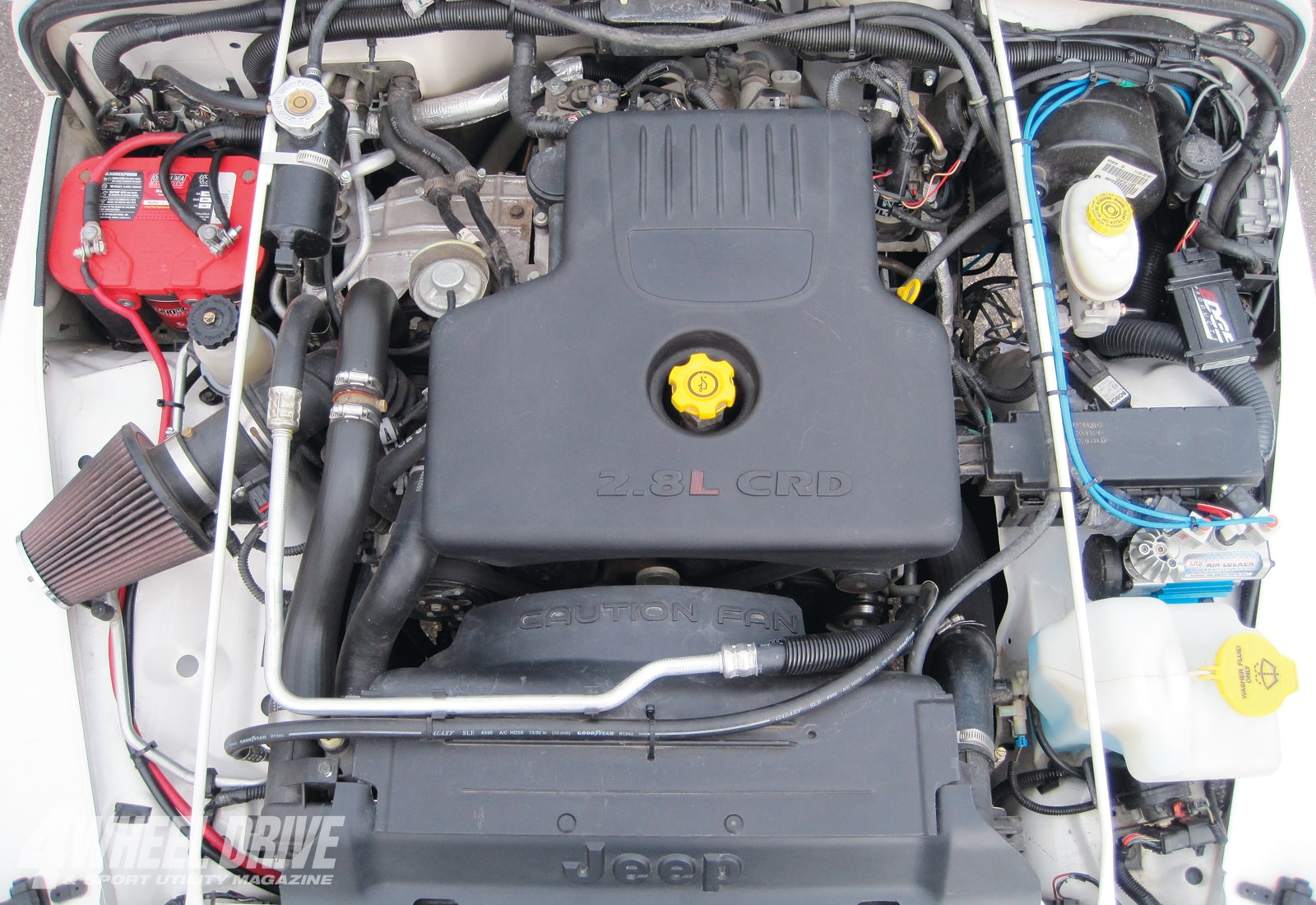 hight resolution of  the layout of the engine bay is clean and meticulous
