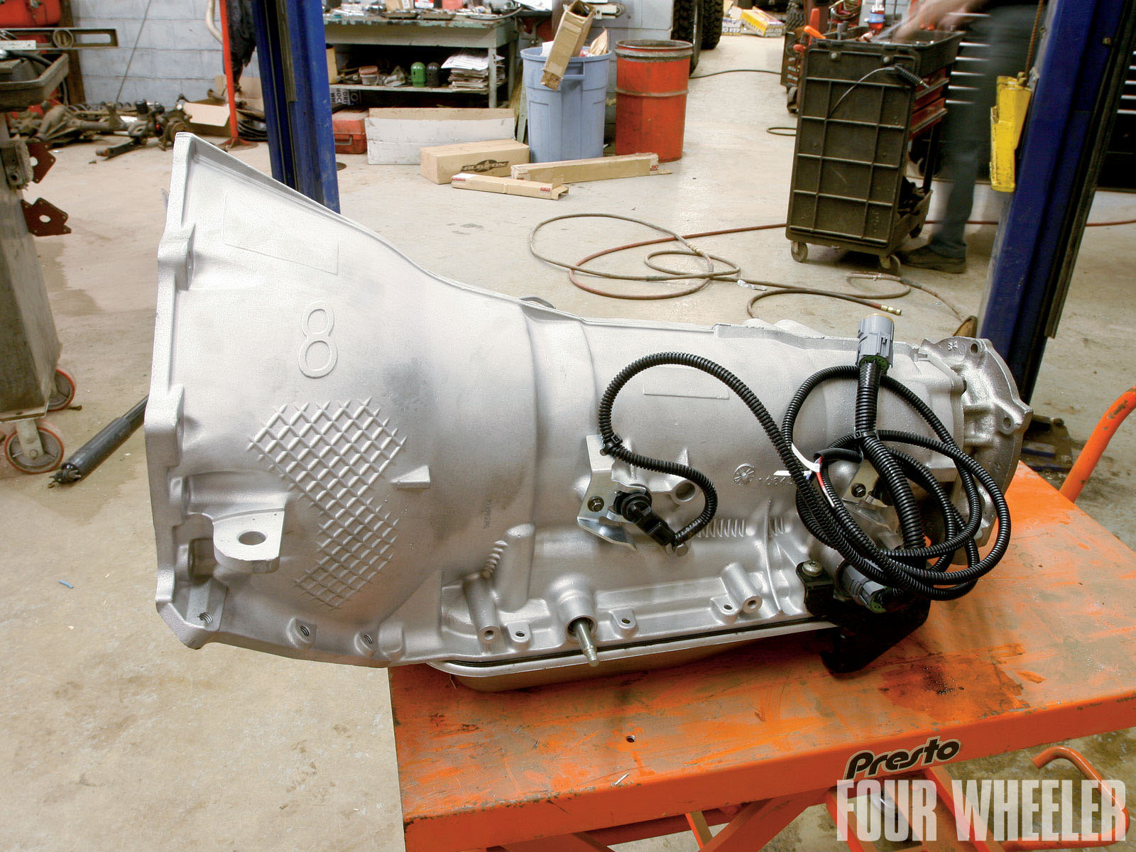 small resolution of  here s the new 4l80e ready to be installed in the truck