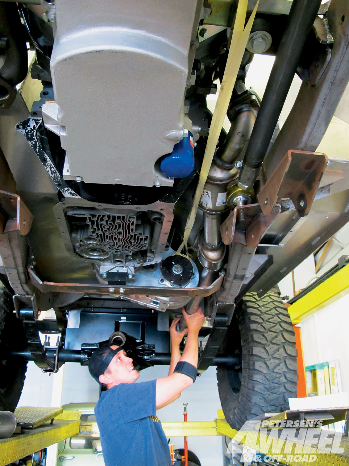 hight resolution of  the small packaging of the jeep along with the tricky suspension movement tight driveline clearances