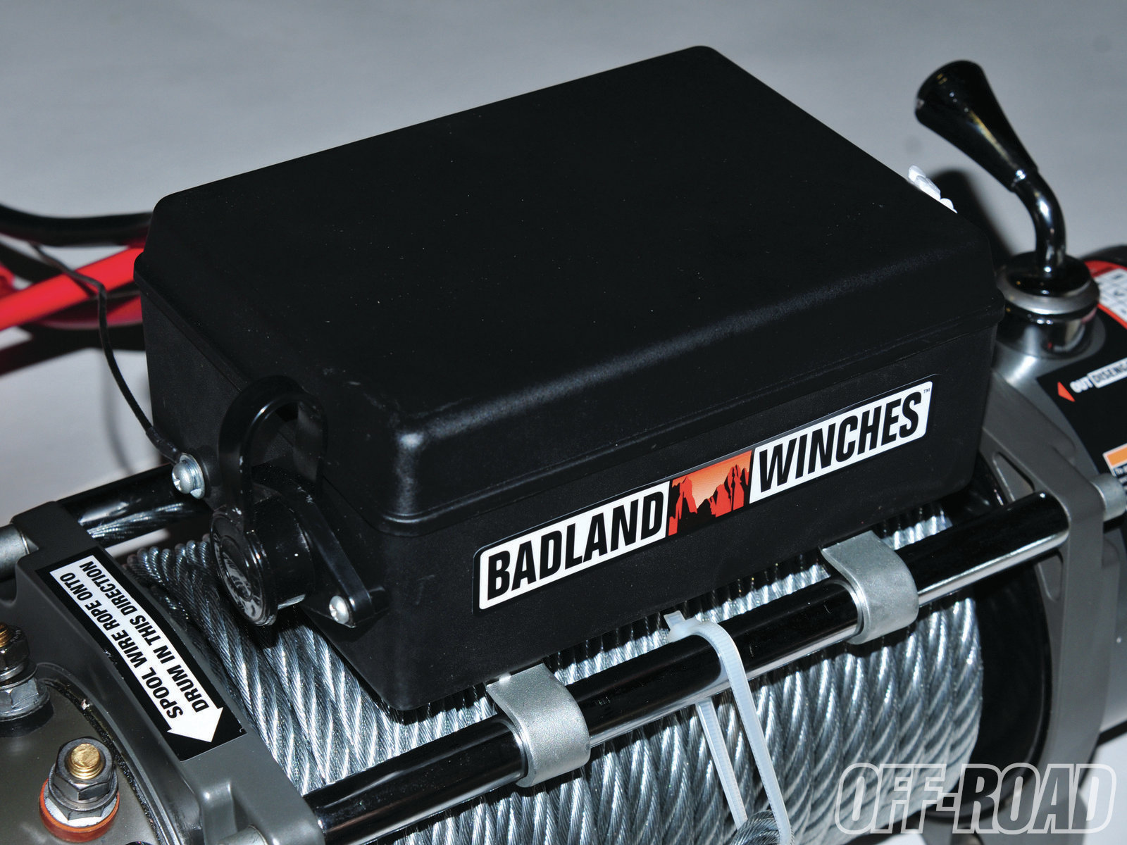 the badland s solenoid box mounts directly to the top of the cross bars over the winch  [ 1600 x 1200 Pixel ]