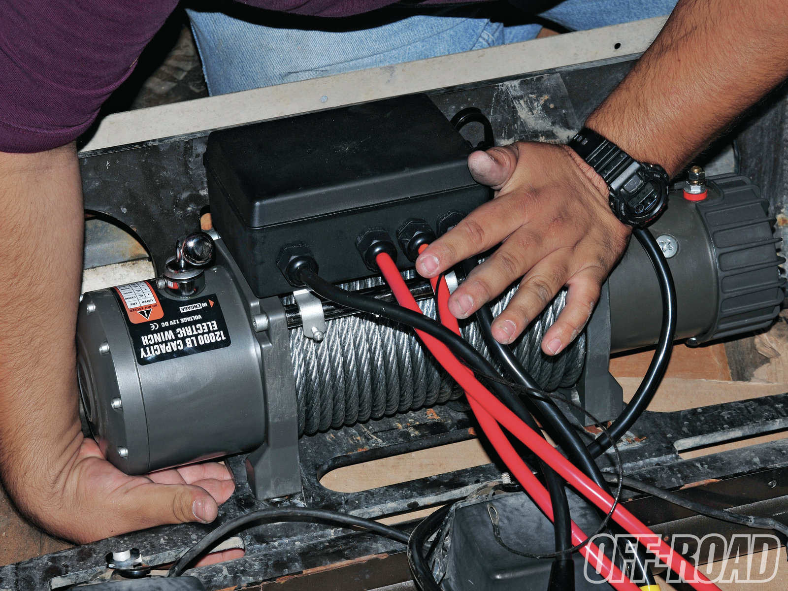 winch while it s a clean setup the solenoid box can present a fitment problem if your  [ 1600 x 1200 Pixel ]