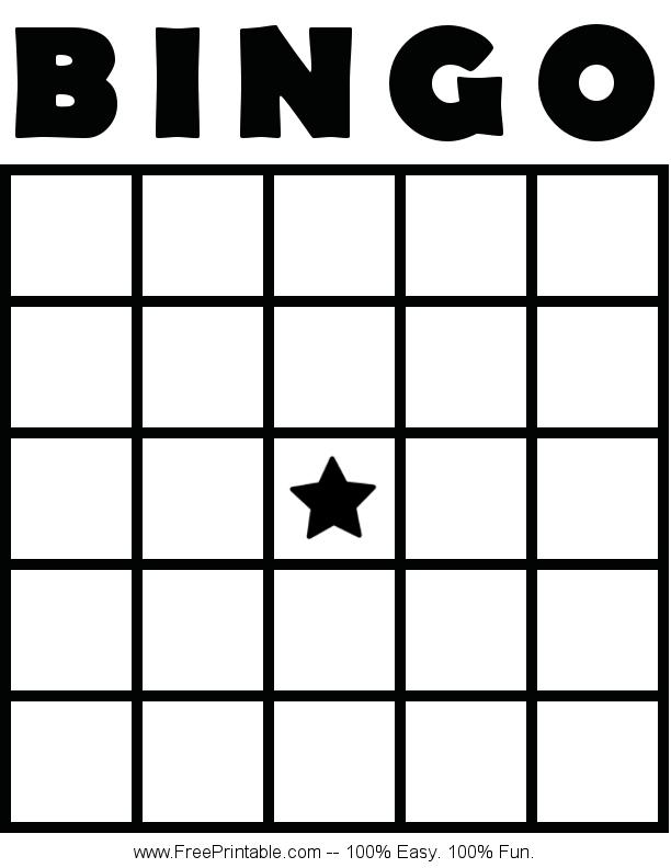 Customize Your Free Printable Blank Bingo Card