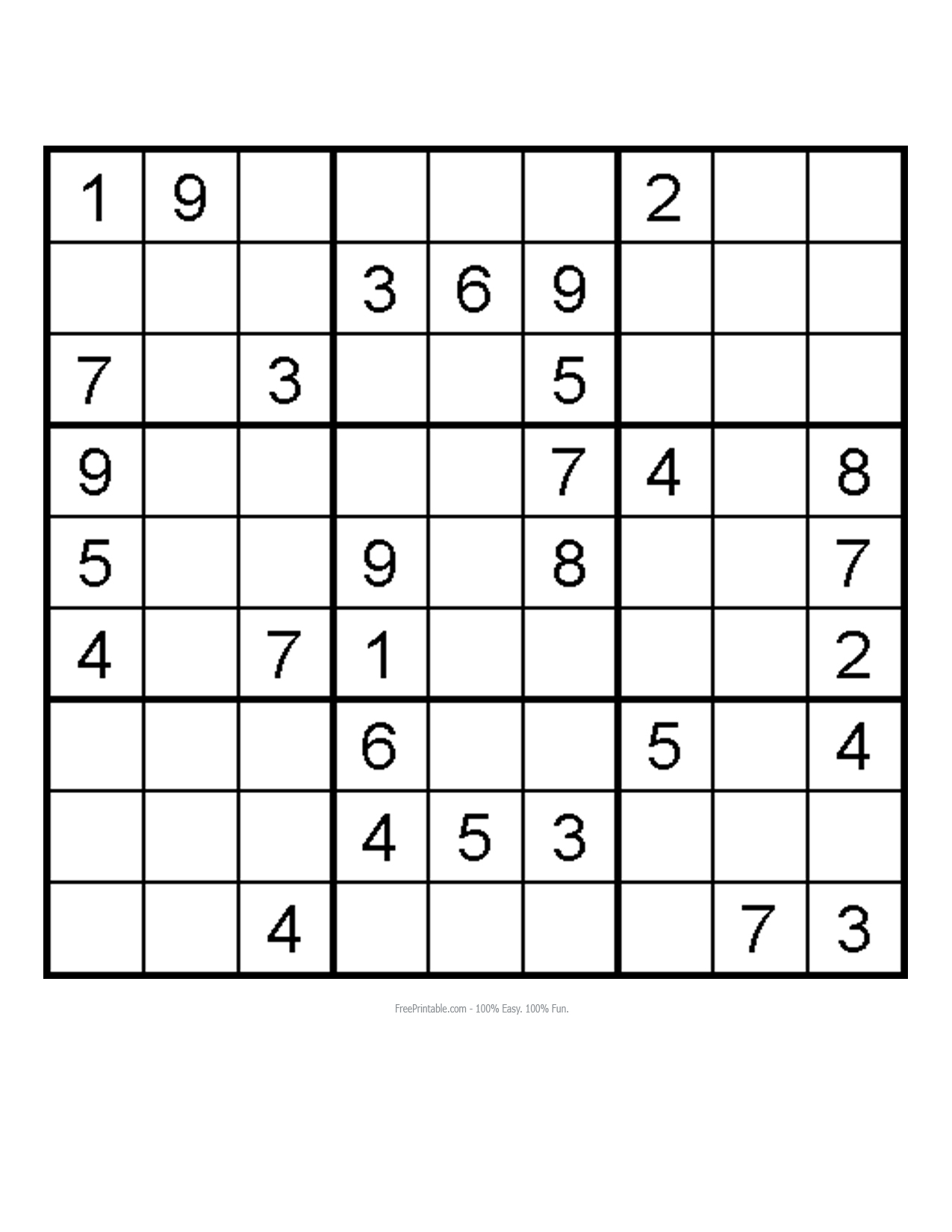 Sudoku Advanced Printable