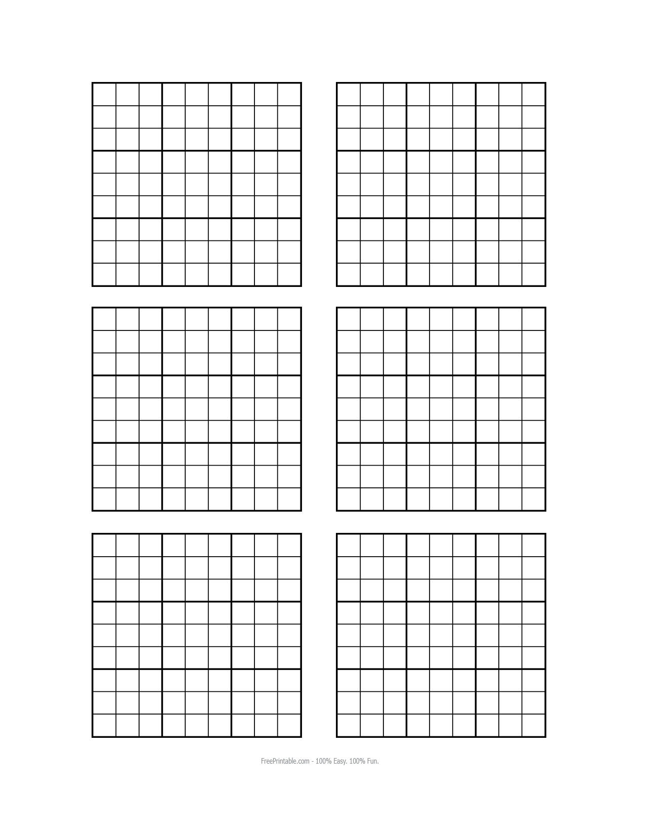 Search Results For Printable Blank Sudoku Grid