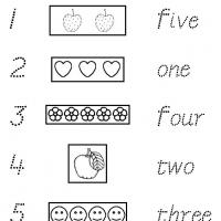 1 to 5 Trace and Match