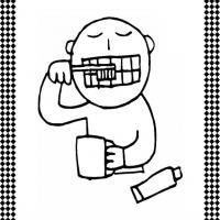 Brushing Teeth Flash Card