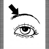 Eyebrow stencil print out