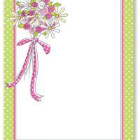 Polka Dots Bordered Blank Bridal Shower Invitation