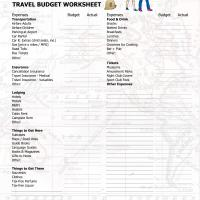 Travel Budget Worksheet