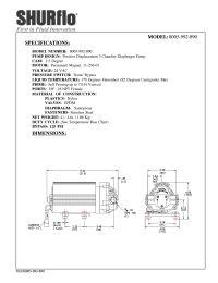 SHURflo 8005-992-890 RO Booster Pump 150 GPD 125 PSI 24V