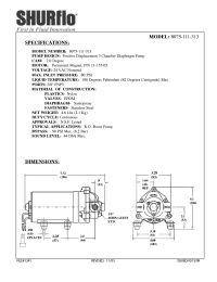 SHURflo 8075-111-329 RO Booster Pump 3/8