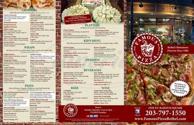 Famous Pizza Coupons - 291 Greenwood Ave Bethel. CT