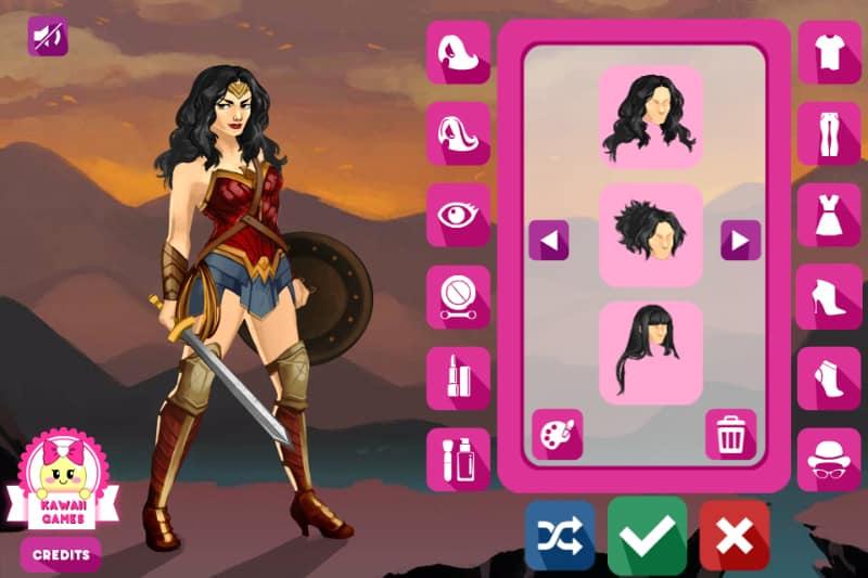 Amazon Warrior Wonder Woman Dress Up game  FunnyGamesus