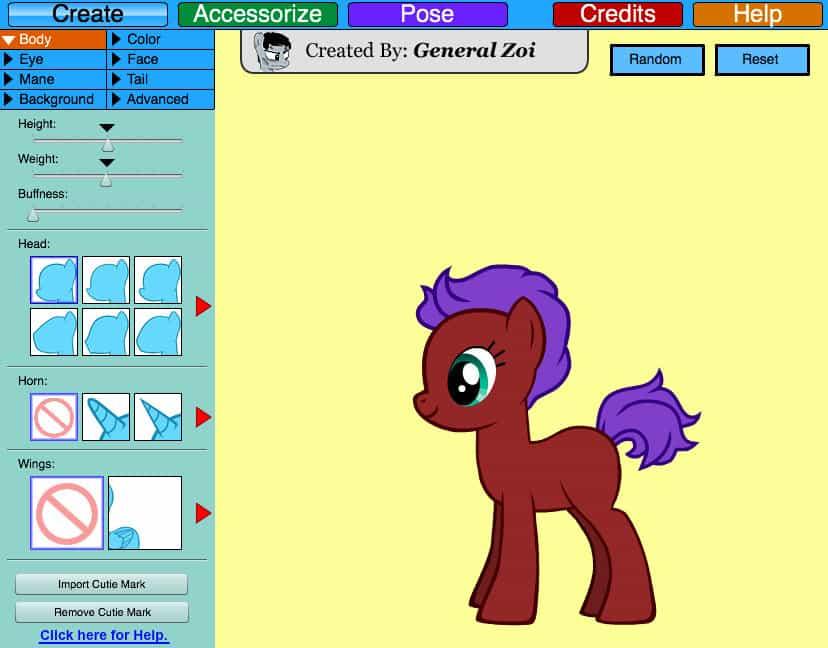 pony creator free play