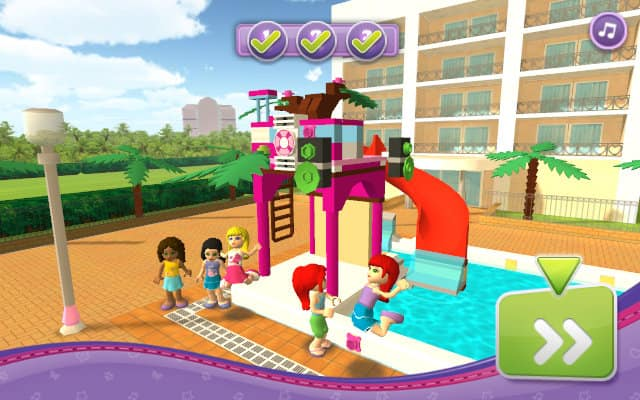 Lego Friends Pool Party Free Play Amp No Download