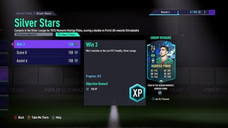 FIFA 21: How to complete TOTS Moments Rodrigo Pinho Silver Stars Objectives challenge   Gamepur