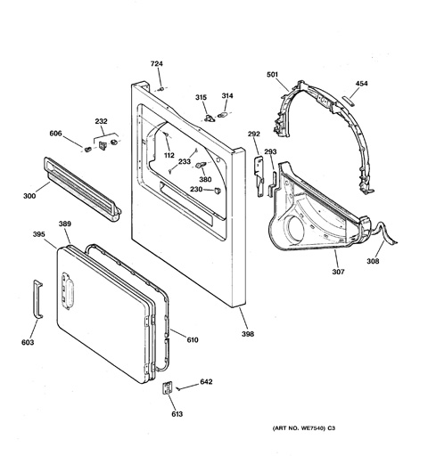 ge electric dryer parts diagram