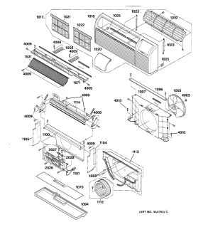 Assembly View for GRILLE AND AIR MOVING PARTS   AZ22E15D5BM1