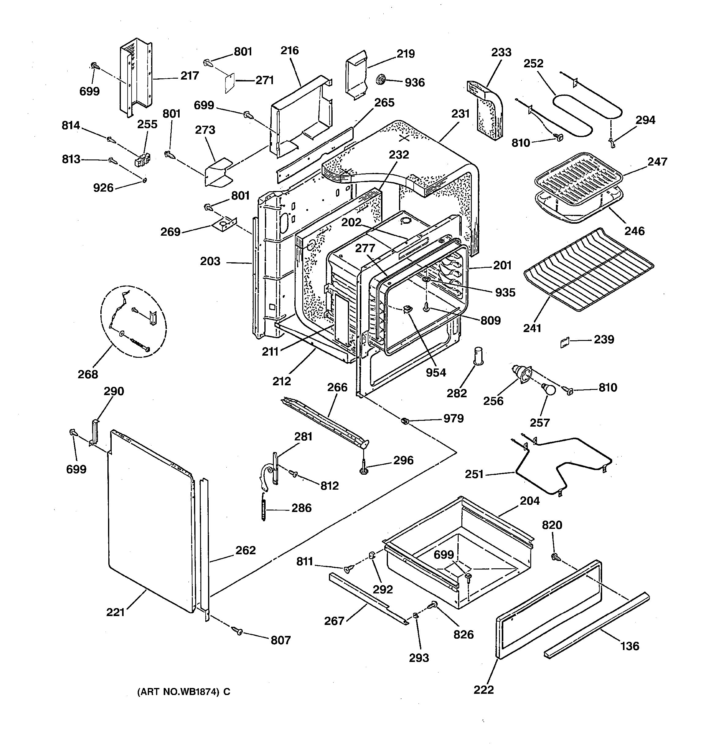 Assembly View For Body Amp Drawer Parts
