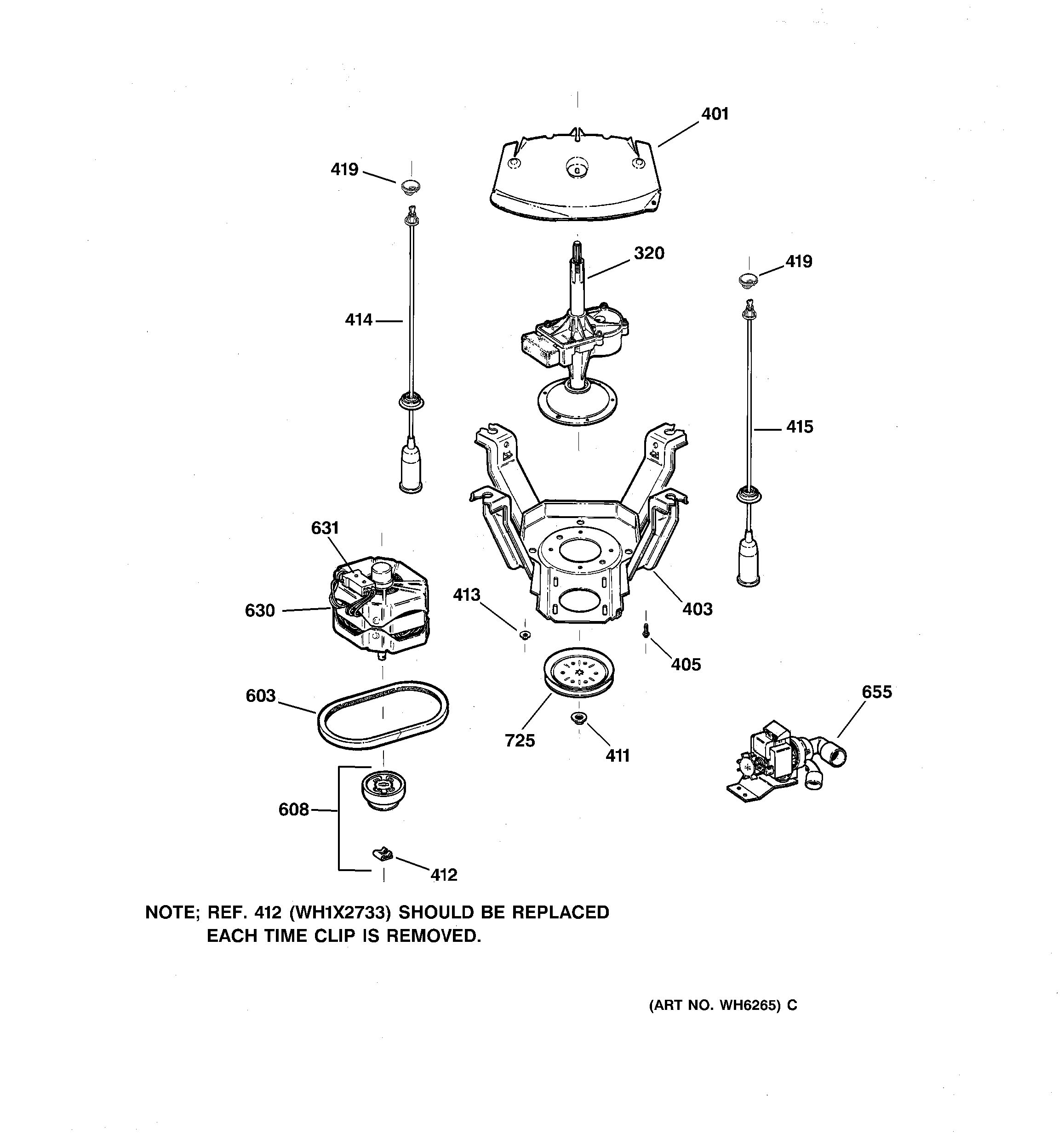 Assembly View for SUSPENSION, PUMP & DRIVE COMPONENTS