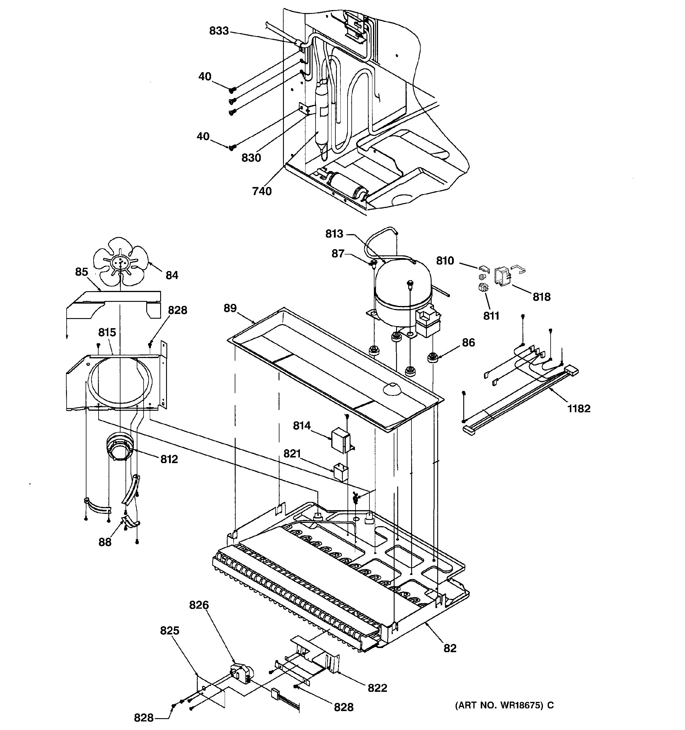 Assembly View For Machine Compartment Assembly