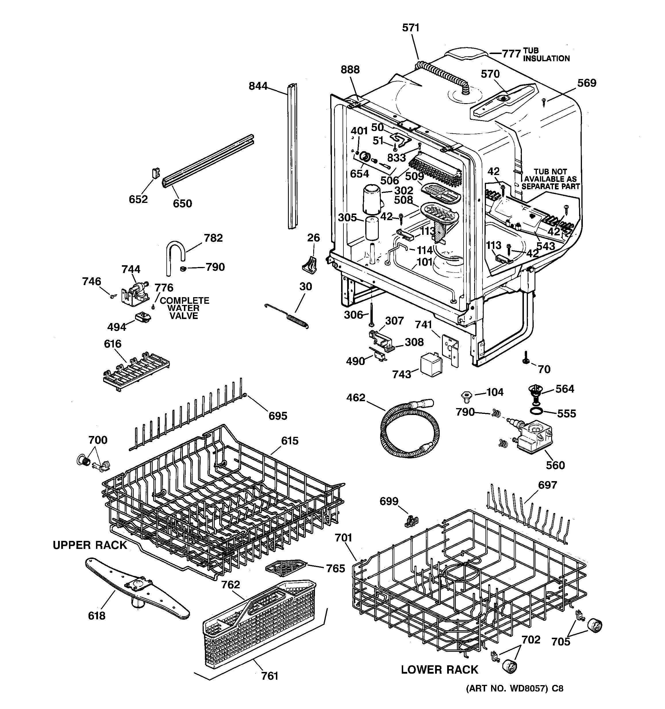 ge dishwasher parts diagram fiesta mk4 radio wiring model search gsd5310d02aa