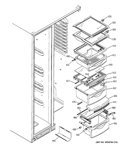 Ge Profile Arctica Refrigerator Parts Diagram