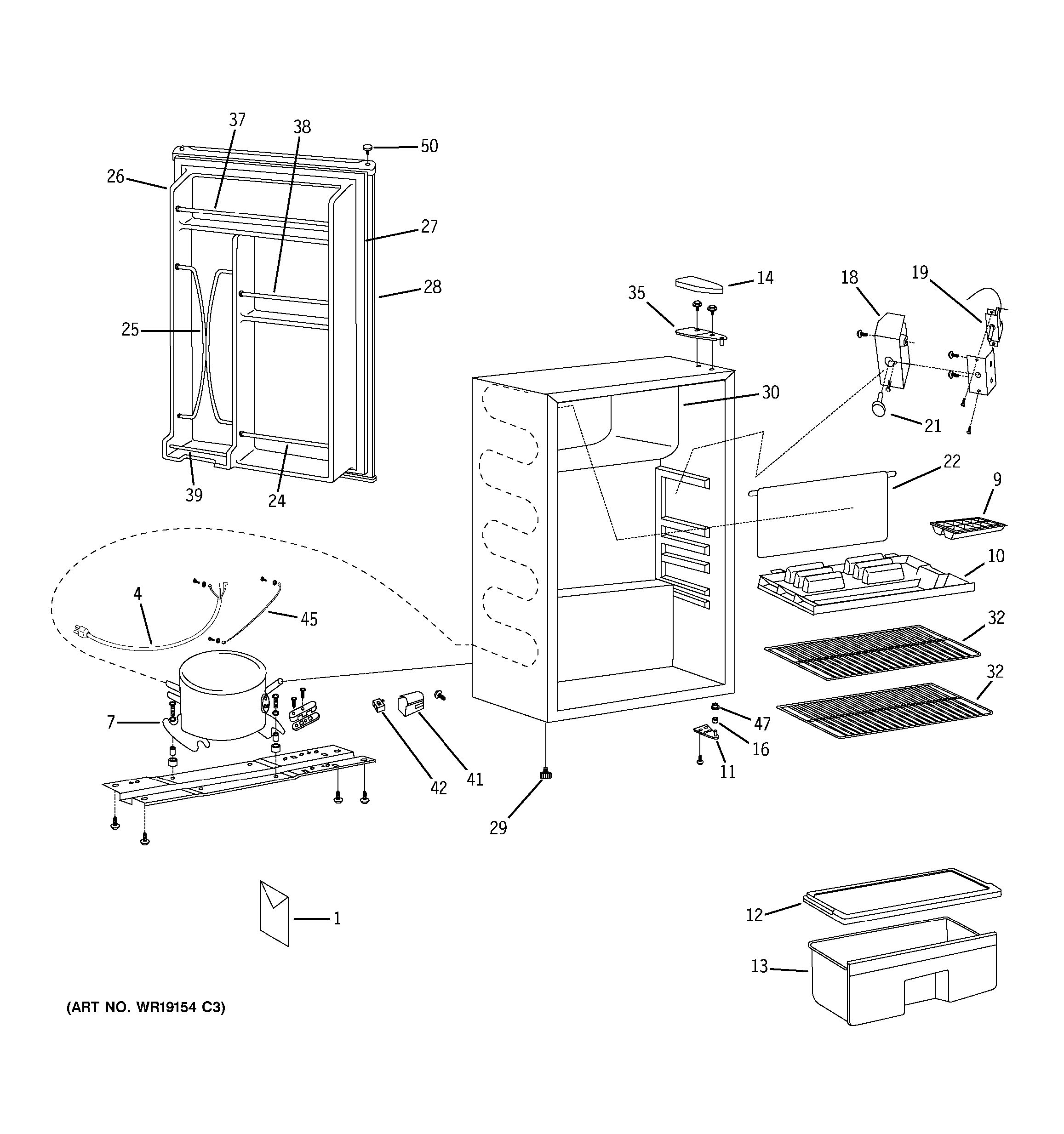 Assembly View For Refrigerator