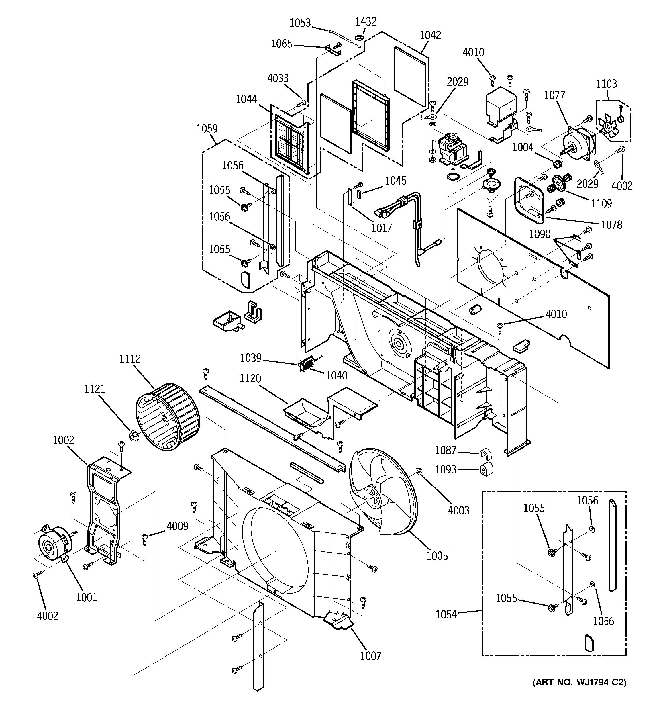 Assembly View For Motor Amp Chassis Parts