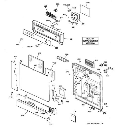 Ge Nautilus Portable Dishwasher Parts : Ge Dishwasher Pump