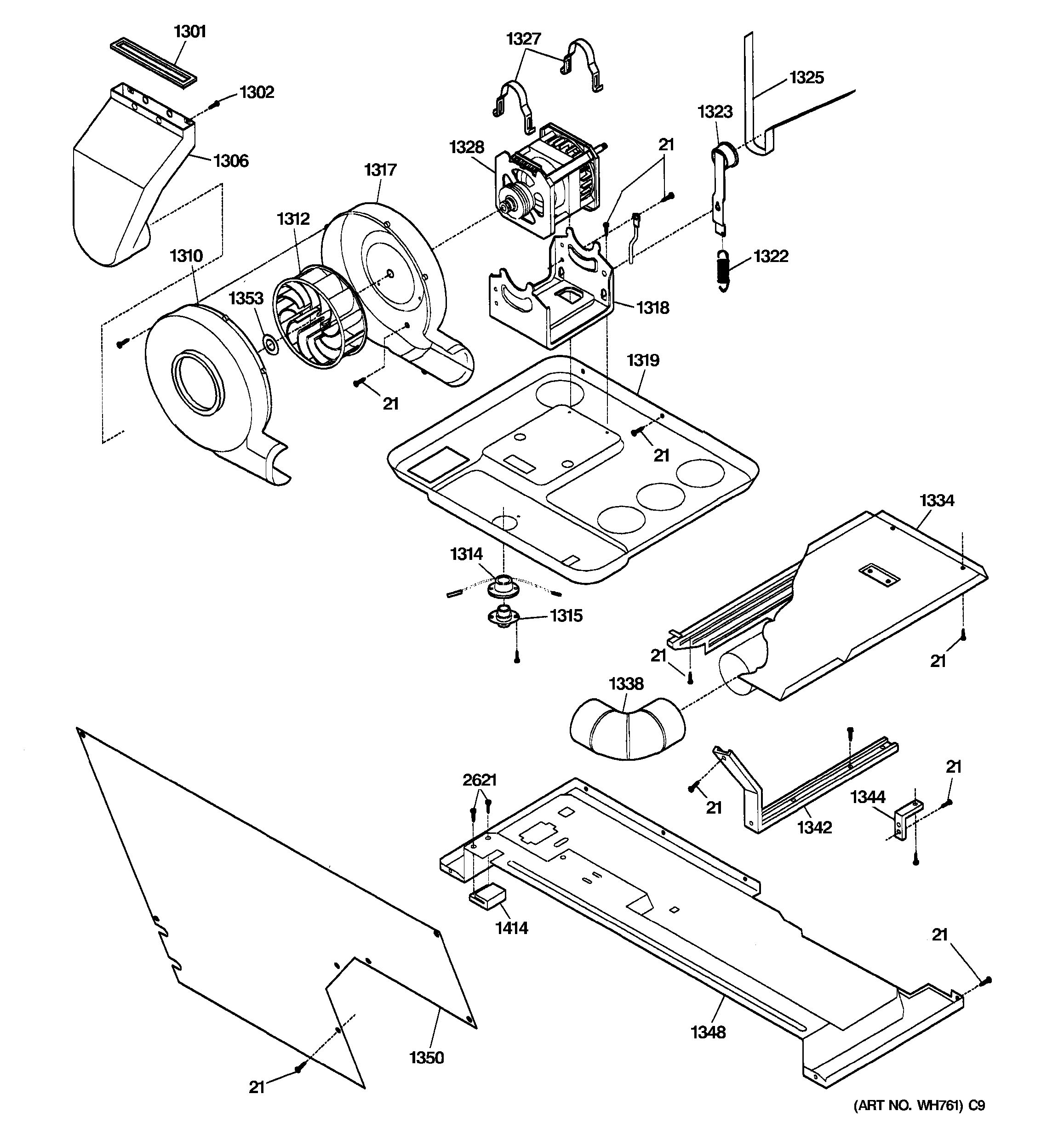 ge dishwasher parts diagram 2007 chevy cobalt wiring assembly view for dryer motor blower and belt wsm2700dawww