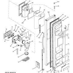 Ge Refrigerator Diagram Jeep Xj Wiring Assembly View For Freezer Door Gsh25kgmdbb