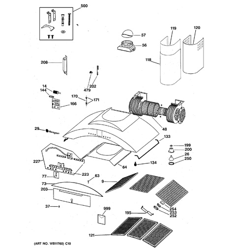 Ge Monogram Range Hood Repair And Wiring Diagram : 48
