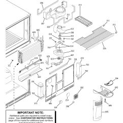 Ge Refrigerator Diagram Dimarzio Telecaster Wiring Assembly View For Freezer Section Hts22gbparww