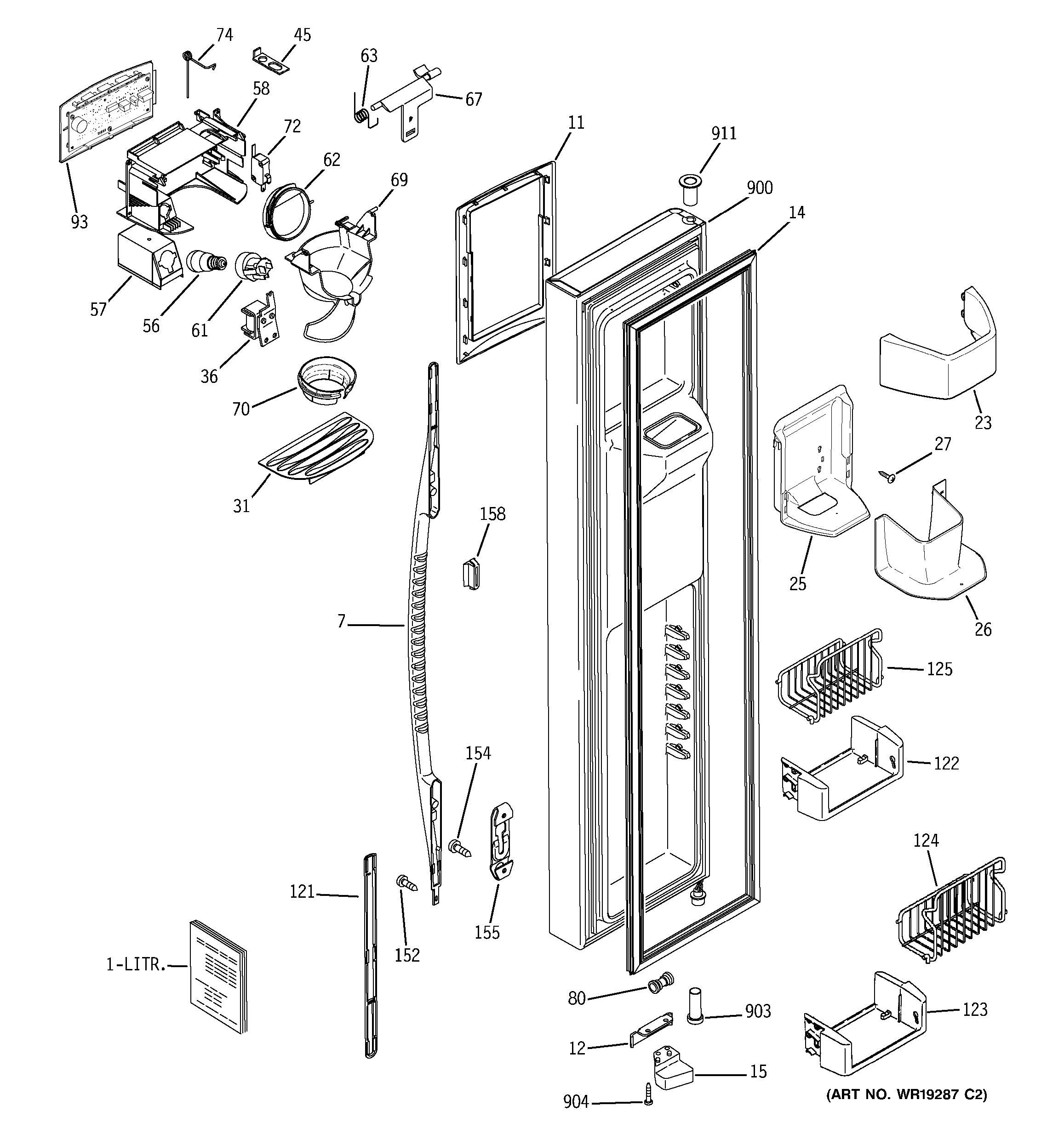 ge refrigerator diagram 1989 acura legend engine assembly view for freezer door pss26ngpbww