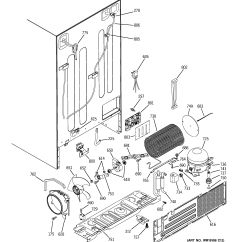 Ge Refrigerator Diagram Ford Falcon Icc Wiring Assembly View For Sealed System And Mother Board Gsf25xgraww