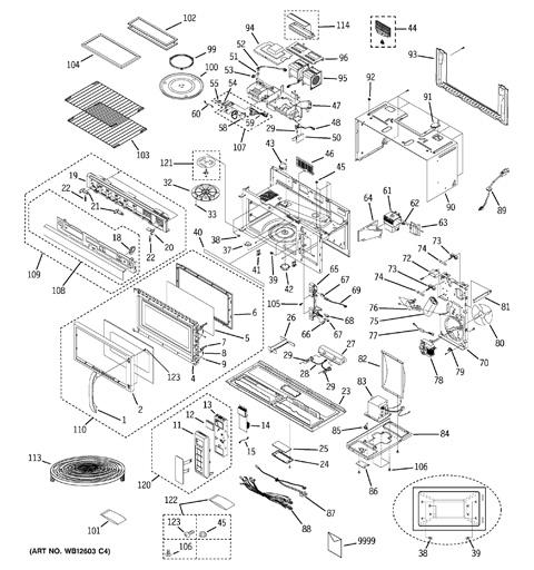 Wiring Diagram: 31 Ge Microwave Parts Diagram
