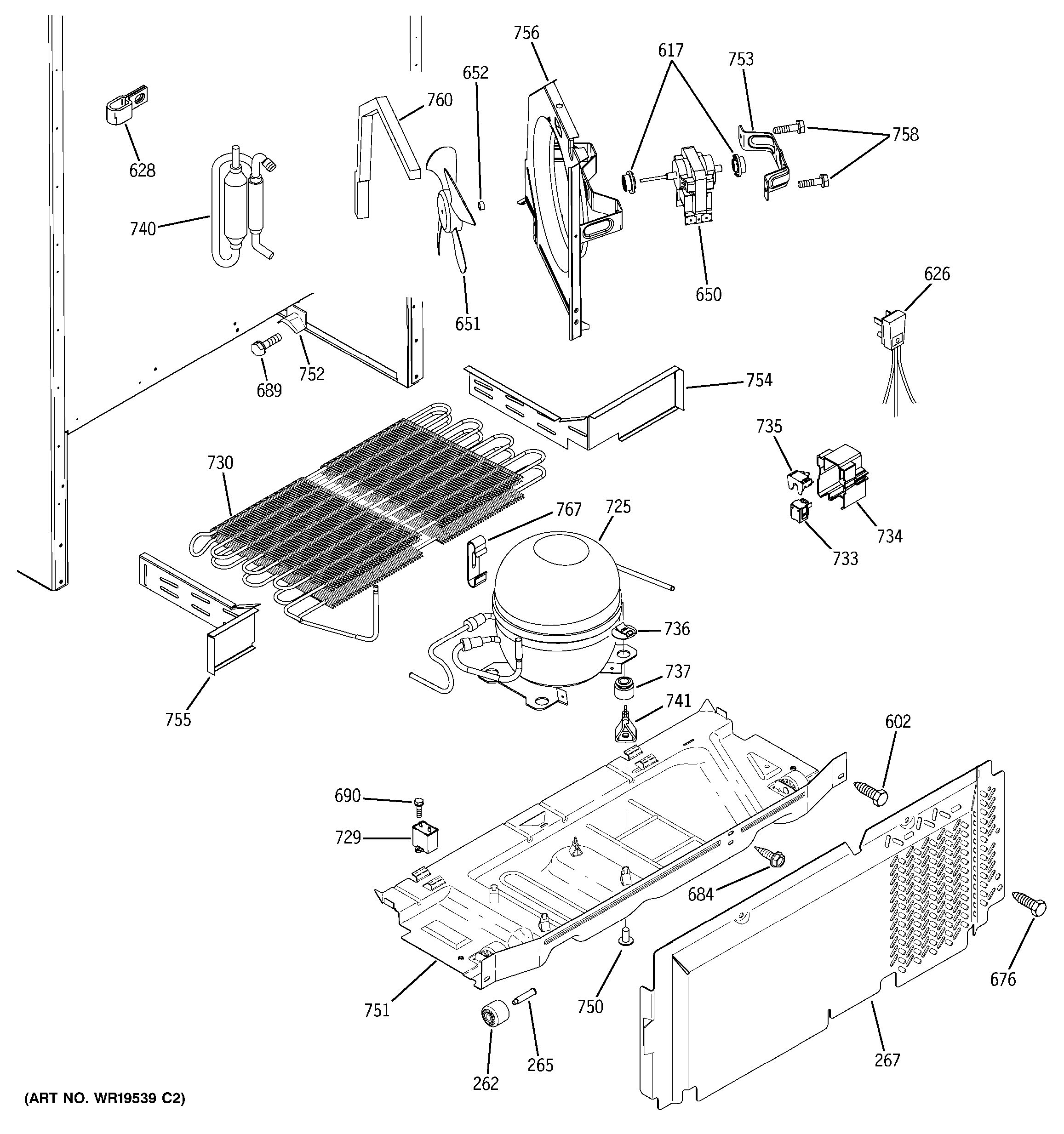 Assembly View For Unit Parts